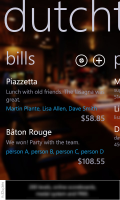 Bills - main screen