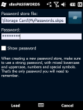 slimPASSWORDS - Load your password store file using your main password